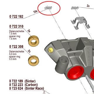 【MAGURA】【750 輻射式卡鉗】用維修部品 煞車來令片叉銷用 固定銷 - 「Webike-摩托百貨」