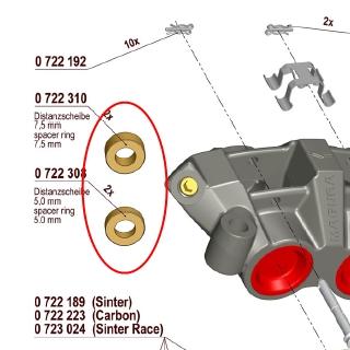 【MAGURA】【750 輻射式卡鉗】用維修部品 750 間隙片 5mm - 「Webike-摩托百貨」