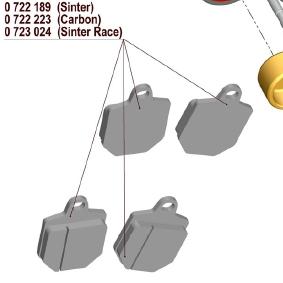 【MAGURA】【750 輻射式卡鉗】用維修部品 750煞車來令片 (Sintered Race) - 「Webike-摩托百貨」