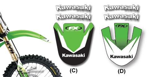 【FACTORY EFFEX】KAWASAKI 前土除貼紙 D - 「Webike-摩托百貨」