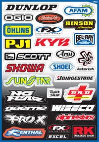 【FACTORY EFFEX】贊助商貼紙套件 SponsorA - 「Webike-摩托百貨」