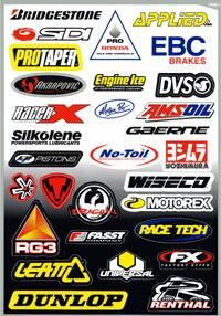 【FACTORY EFFEX】贊助商貼紙套件 SponsorD - 「Webike-摩托百貨」