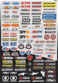 【FACTORY EFFEX】贊助商貼紙套件 Micro logo 07D - 「Webike-摩托百貨」