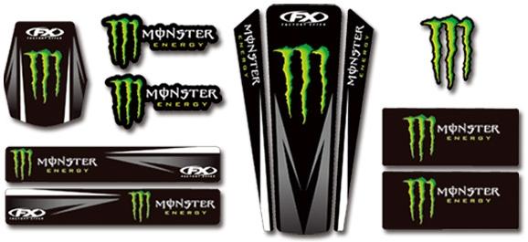 【FACTORY EFFEX】MONSTER ENERGY 通用型車身貼紙套件 - 「Webike-摩托百貨」