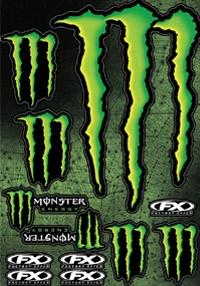 【FACTORY EFFEX】Monster貼紙組 - 「Webike-摩托百貨」