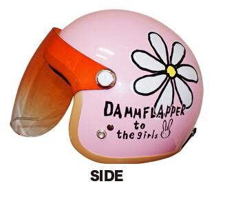 【DAMMFLAPPER】花朵ー四分之三安全帽 - 「Webike-摩托百貨」