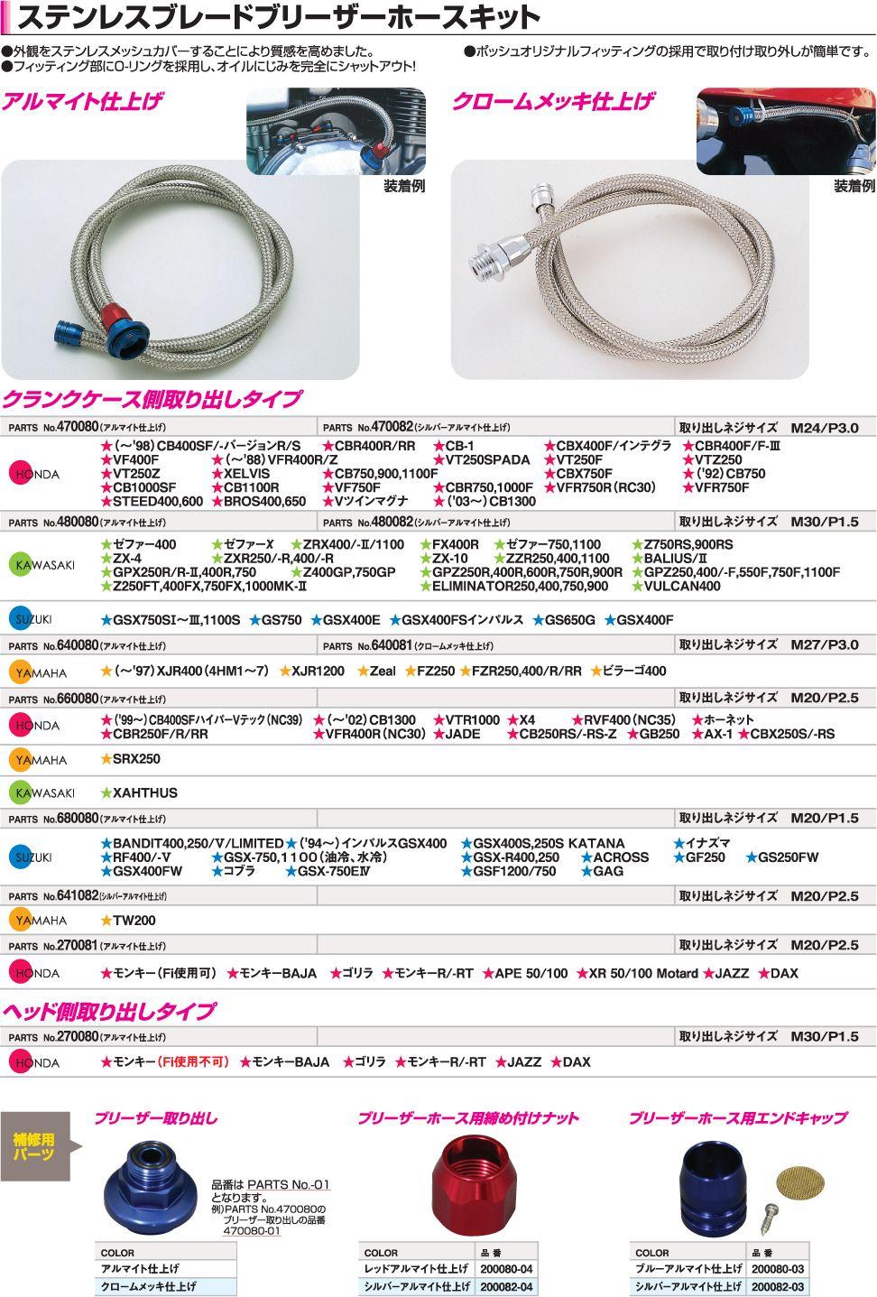 【CF POSH】Blade 不銹鋼通氣軟管套件 - 「Webike-摩托百貨」