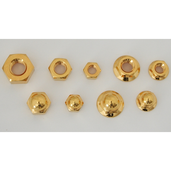 【CF POSH】24K鍍金 不銹鋼六角螺帽 - 「Webike-摩托百貨」