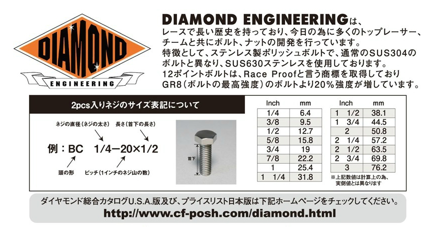 【CF POSH】Diamond 12角螺絲 - 「Webike-摩托百貨」