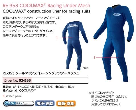 【KOMINE】Cool Max 競賽型網格內穿衣 - 「Webike-摩托百貨」