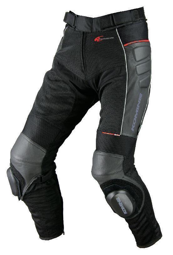 PK-709 Knee Slider Leather Mesh Pants KOMINE