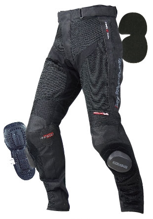 【KOMINE】PK-725 Knee Slider Mesh Pants SUPERB ZIPUlasan Produk :name