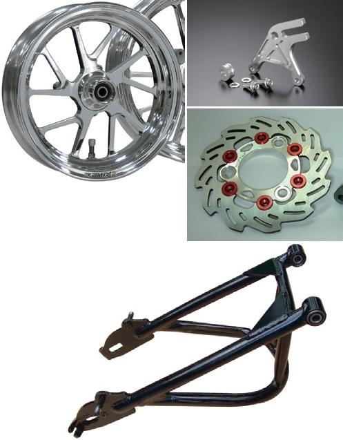 【SHIFT UP】長搖臂及穩定器/GALE SPEED 後輪框套件(不含煞車卡鉗) - 「Webike-摩托百貨」