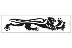 【MALOSSI】黑色・Lion24cm 右側 貼紙 - 「Webike-摩托百貨」