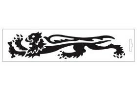 【MALOSSI】黑色・Lion24cm 左側 貼紙 - 「Webike-摩托百貨」