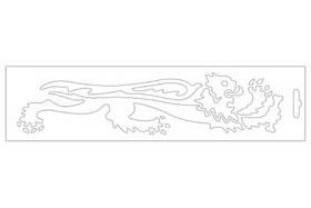 【MALOSSI】白色・Lion24cm 右側 貼紙 - 「Webike-摩托百貨」