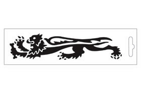 【MALOSSI】黑色・Lion16.6cm 左側 貼紙 - 「Webike-摩托百貨」