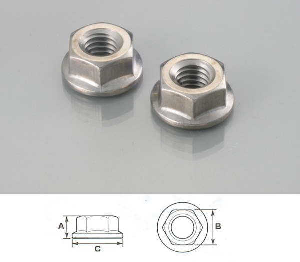 【K-CON】不鏽鋼墊圈頭螺帽 (無鋸齒) - 「Webike-摩托百貨」
