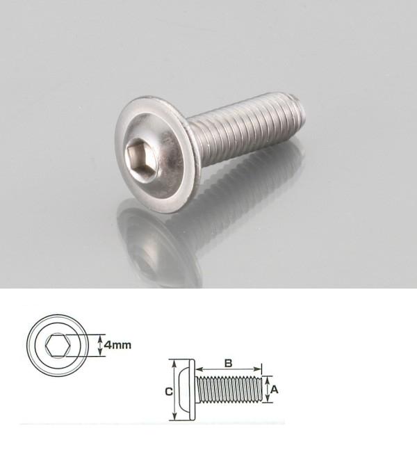 【K-CON】內六角墊圈頭螺絲 (SUS不銹鋼) 6×20/1P - 「Webike-摩托百貨」