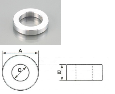 【K-CON】鋁合金間隙片 M6 螺絲專用 - 「Webike-摩托百貨」