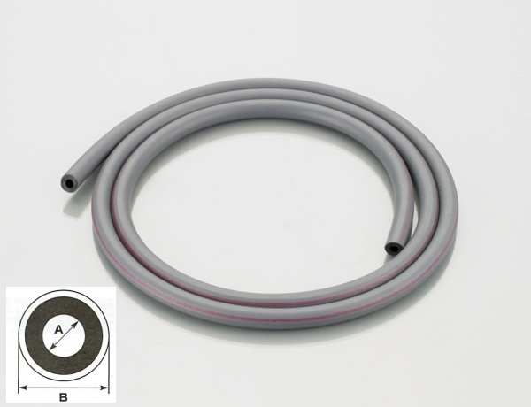 【K-CON】燃油・橡膠軟管(灰色/紅色)3.5×1M - 「Webike-摩托百貨」