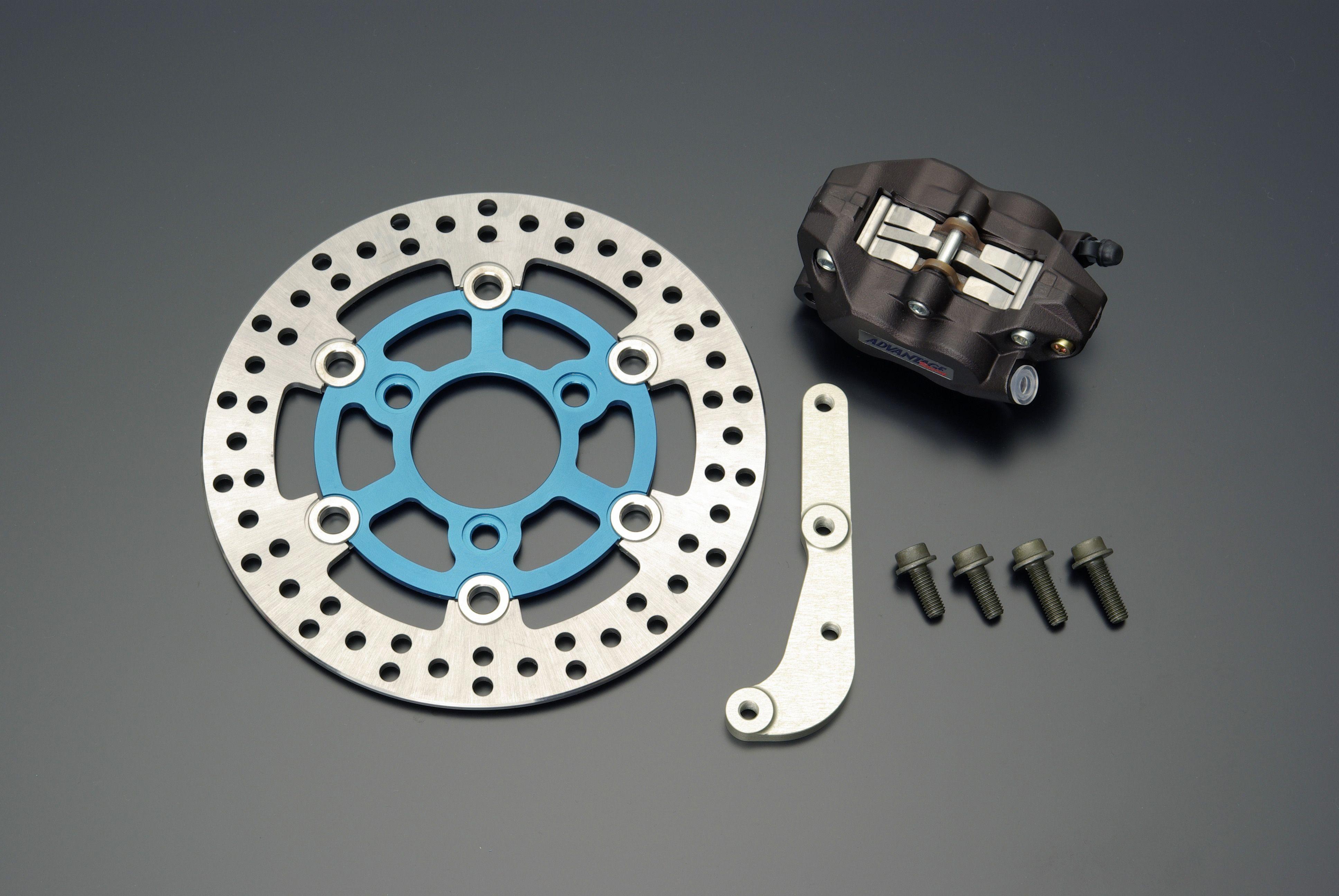 【GRONDEMENT】4POT 煞車卡鉗 前碟煞套件 (藍色) - 「Webike-摩托百貨」