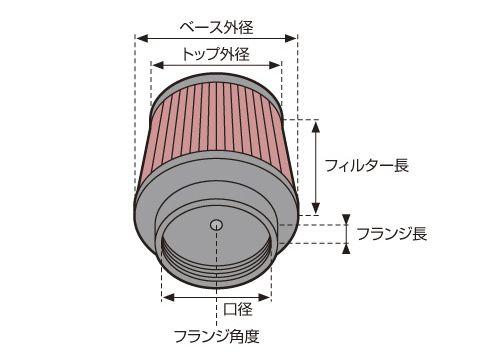 【DNA】改裝型空氣濾芯(圓錐型 橡膠頂部) - 「Webike-摩托百貨」