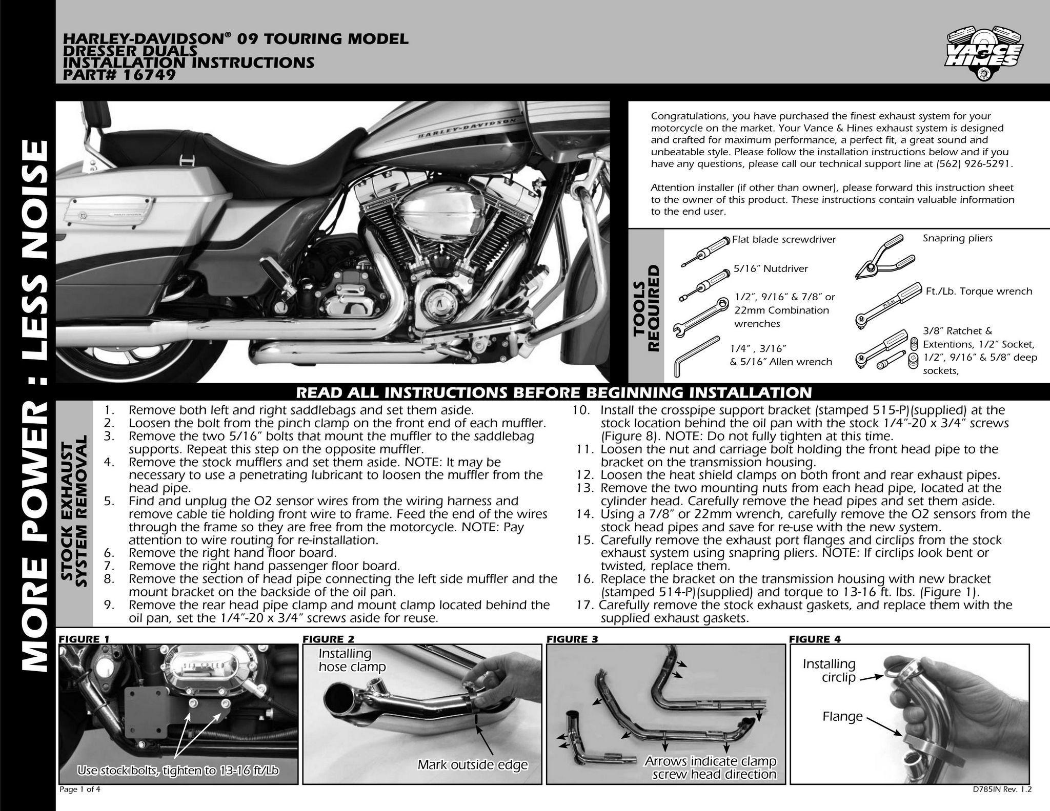 【VANCE&HINES】 DRESSER DUALS HEAD PIPES排氣管頭段 - 「Webike-摩托百貨」