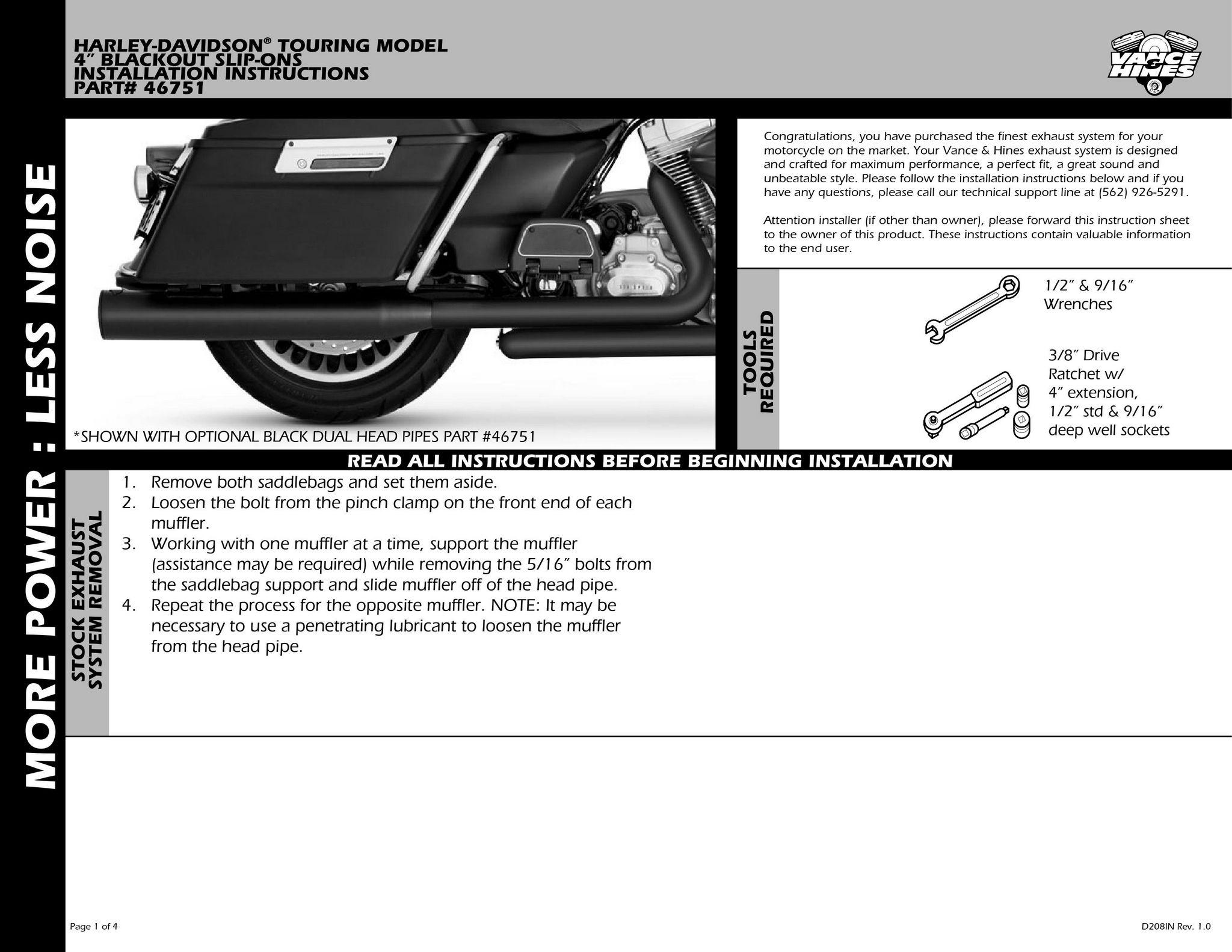 【VANCE&HINES】OUTROUND 排氣管尾段(黑色) - 「Webike-摩托百貨」
