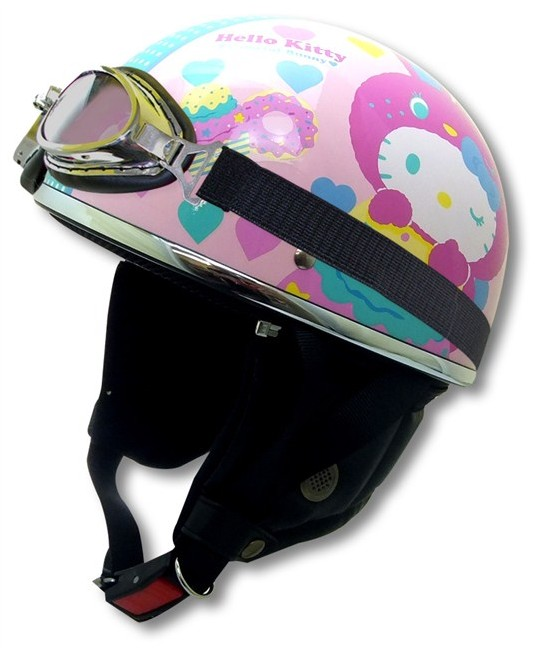 【RIDEZ】HELLO KITTY!復古彩兔 半罩型式安全帽 - 「Webike-摩托百貨」