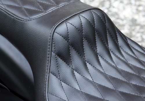 【EASYRIDERS】70s 菱形格紋雙座坐墊 - 「Webike-摩托百貨」
