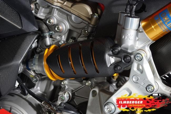 【ILMBERGER】碳纖維避震器外蓋 - 「Webike-摩托百貨」