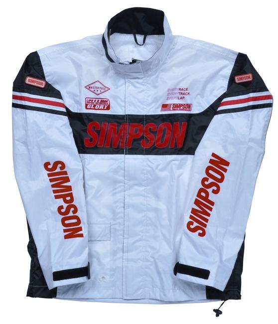 【SIMPSON】成套雨衣/白色 - 「Webike-摩托百貨」