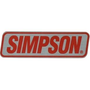 【SIMPSON】鋁合金貼紙 - 「Webike-摩托百貨」