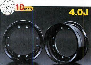 【G-Craft】4.0J 銀色10英吋鋁合金輪框 4.0J - 「Webike-摩托百貨」