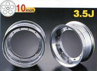【G-Craft】3.5J 三輻式專用 銀色10英吋鋁合金輪框套件 3.5J - 「Webike-摩托百貨」