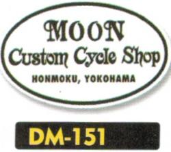 【MOON EYES】Custom Cycle Shop 貼紙 - 「Webike-摩托百貨」