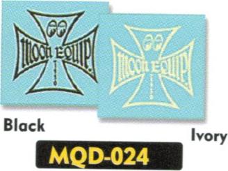 【MOON EYES】Iron Cross decal 貼紙 - 「Webike-摩托百貨」