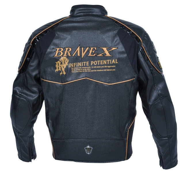 【BRAVE X】打孔仿皮革夾克 - 「Webike-摩托百貨」