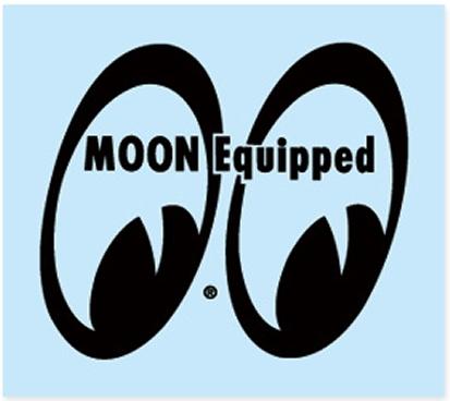 【MOON EYES】MOON EQUIPPED EYE SHAPE 貼紙 - 「Webike-摩托百貨」
