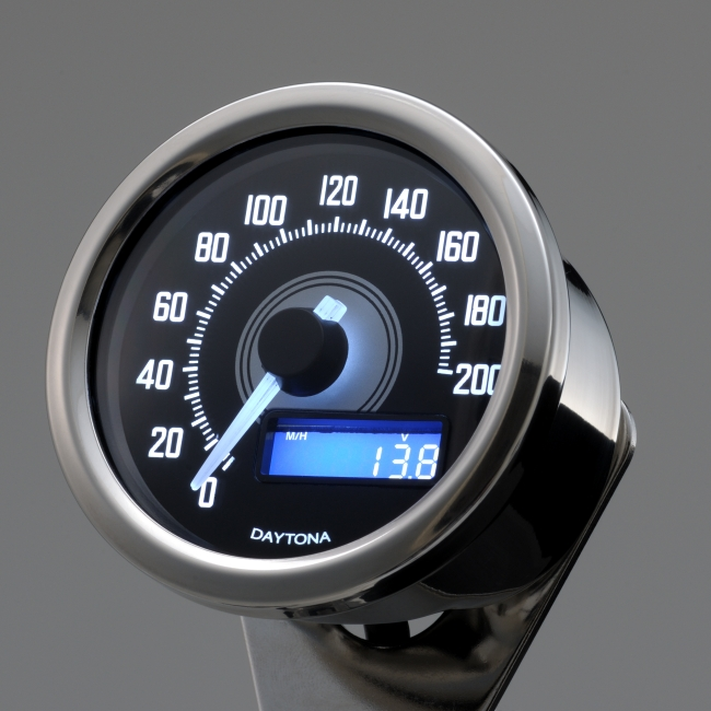 Velona Speedometer 200 km/h Buff Body/White Led