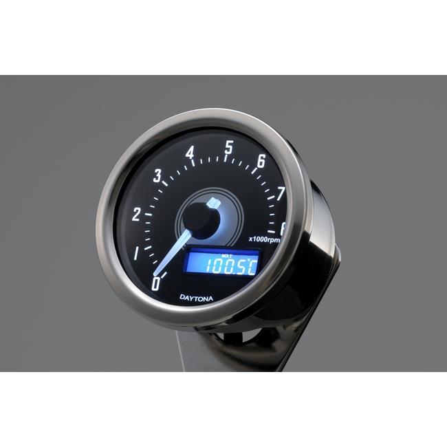 【DAYTONA】VELONA 轉速表8000rpm表示 (拋光本體/白色LED) - 「Webike-摩托百貨」