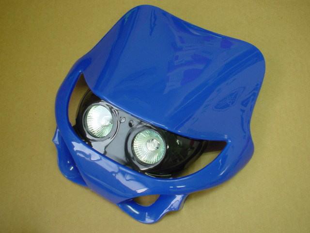 【KN企劃】MotoCross 頭燈整流罩  水平型 Type1  (藍色) - 「Webike-摩托百貨」