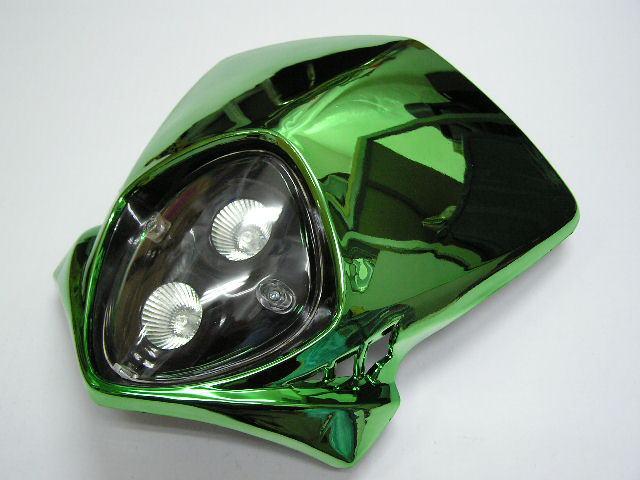 【KN企劃】MotoCross 頭燈整流罩  垂直型 Type12 (電鍍綠色) - 「Webike-摩托百貨」