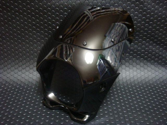 【KN企劃】 通用型 頭燈整流罩 【黑色】 - 「Webike-摩托百貨」