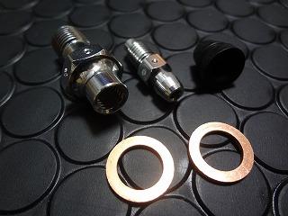 【KN企劃】鋁合金切削加工油管接頭螺絲【黑色】【1.25mm間距】【含放空氣螺絲】 - 「Webike-摩托百貨」
