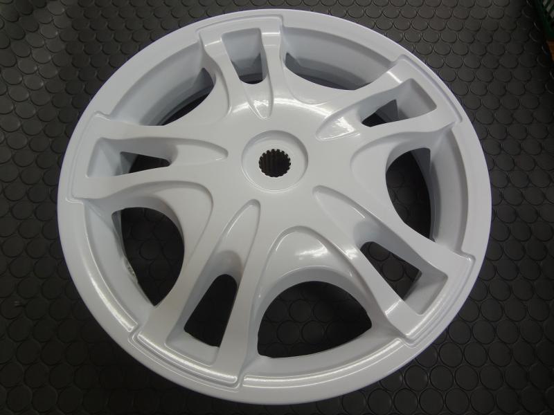 【KN企劃】ADDRESS V125鑄造前後輪框組【白色】L0 - 「Webike-摩托百貨」