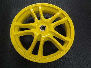 【KN企劃】ADDRESS V125鑄造前後輪框組【黃色】K1-K9 - 「Webike-摩托百貨」