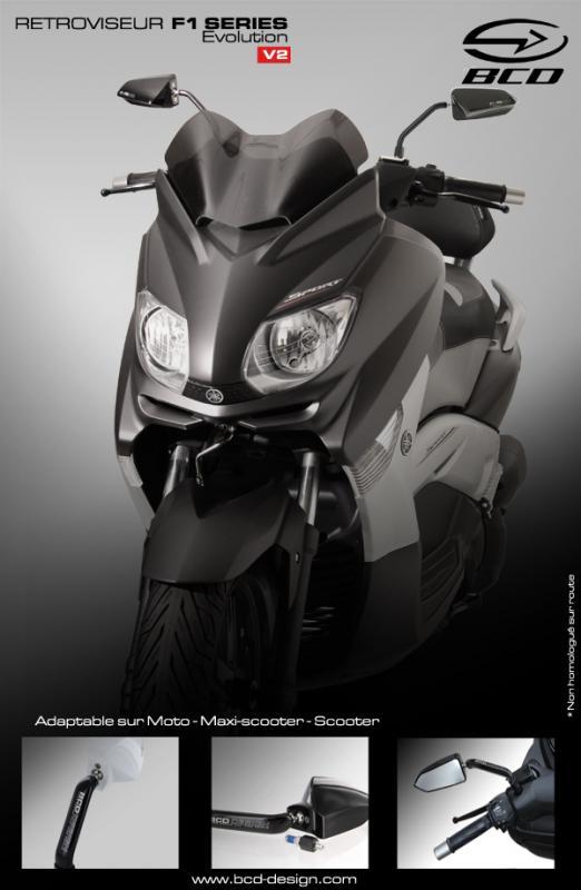【KN企劃】BCD 後視鏡 (左右組 8mm 10mm 普通型) 【黑色】 - 「Webike-摩托百貨」