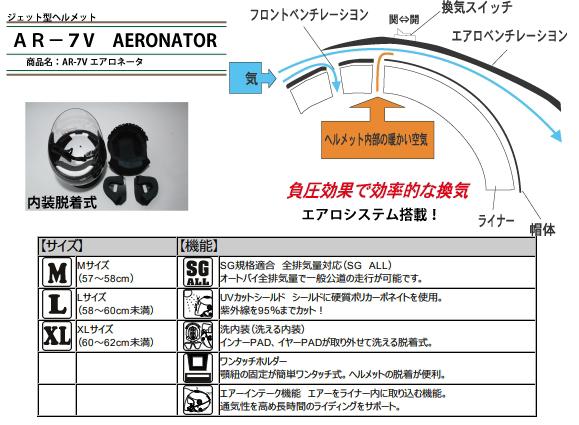 【SPEED PIT】AR-7V AERONATOR Jet 四分之三安全帽 - 「Webike-摩托百貨」